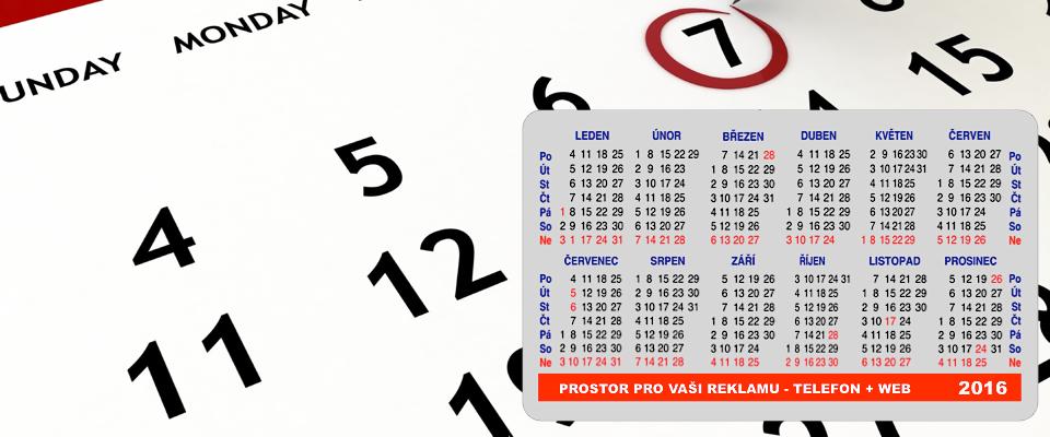 Samolepící kalendáře